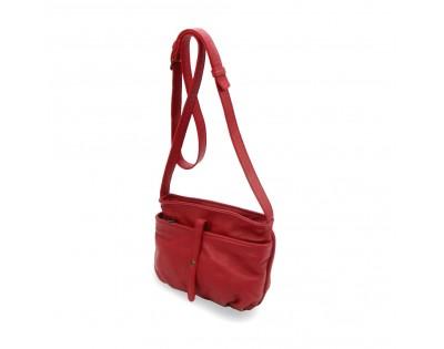 Petit sac bandoulière  Composition : CUIR Vachette doublure : textile  Dimensions : -hauteur 15 cm -largeur 22 cm -épa
