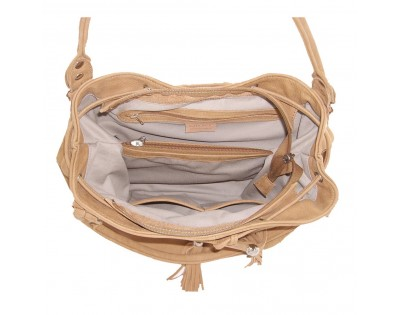 SAC SEAU  Composition : CUIR Nubuck. Doublure : textile  Dimensions : -hauteur 29 cm -largeur 35 cm -profondeur 17 cm
