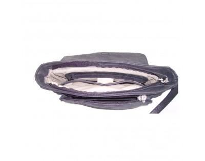 SAC A RABAT PORTE TRAVERS ou EPAULE Composition : CUIR VACHETTE scintillant Doublure : textile Dimension : largeur 29 cm